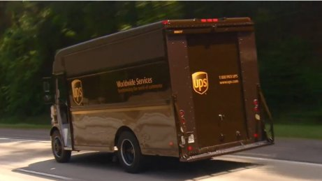 Image of a UPS truck.